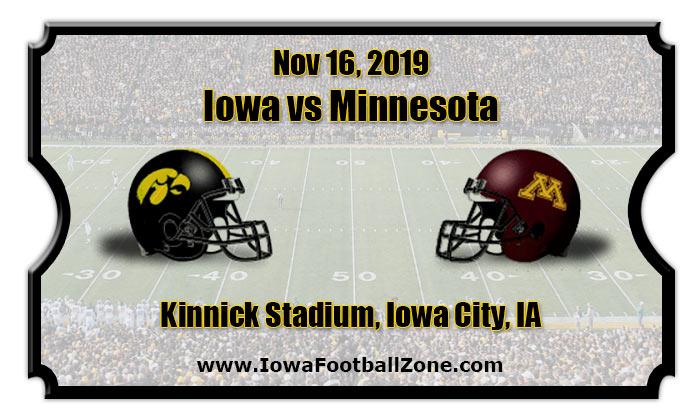 Iowa Hawkeyes Vs Minnesota Golden Gophers Football Tickets