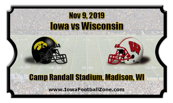 Iowa Hawkeyes vs Wisconsin Badgers Football Tickets | 11/09/19